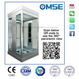 Elevatore domestico panoramico compreso l'asta cilindrica di vetro