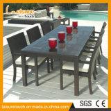 Muebles al aire libre de la rota del jardín Aluminum/PE del nuevo estilo que cenan el conjunto por el conjunto de Chair y del vector
