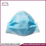 maschera di protezione chirurgica della polvere non tessuta medica a gettare 3-Ply