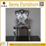 ステンレス鋼の金ファブリックホテルアーム椅子