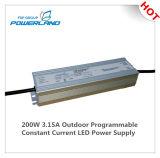 bloc d'alimentation continuel programmable extérieur du courant DEL de 200W 3.15A 29~58V