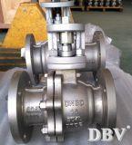 Robinet à tournant sphérique monté par tourillon d'ISO5211 Ss904L