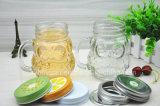 Coruja de vidro do copo do punho creativo dada forma