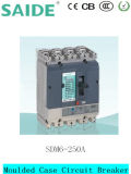 Sdm6-250A de Gevormde Stroomonderbreker 250A MCCB van het Geval