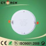 Ctorch aisló 9 vatios del LED del panel de la luz del bulbo de la cubierta LED de precio elegante redondo del panel