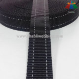 1 인치 검정 2는 개 목걸이와 가죽끈을%s 사려깊은 폴리에스테 가죽 끈을 줄무늬로 했다