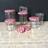 FDA 1oz 4oz 6oz 8oz 16oz breiter Mund-leeres Glasnahrungsmittelglas für Honig-Essiggurke-Marmelade mit Zinn-Kappen-Öse-Schutzkappe