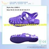 Sandália superior da geléia do PVC da sola lisa das senhoras das meninas e das mulheres