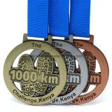 Medaglia su ordinazione del premio della stazione di finitura di interurbana del metallo 42km