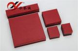 宝石類の記憶のための赤い特殊紙のイヤリングボックス