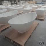 Bañera superficial sólida libre del baño de Kkr Corian para el hotel