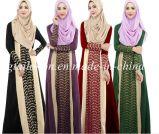Тканье ткани синеля платья женщины цветастого полиэфира мусульманское