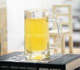 340ml con taza de cristal de la taza transparente de la cerveza de la maneta la nueva