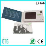 Pequeña tarjeta de visita caliente del LCD de la venta de 2017 años