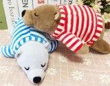 Juguetes suaves de la muñeca del oso polar de la felpa del animal relleno