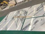 Мрамор китайской белизны с слябами черных вен Skyey белыми мраморный