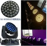 36*10W LED 급상승 이동하는 맨 위 세척 빛