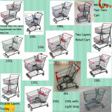 American Style Two Tiers Supermarket Shopping Cart Shopping Trolley