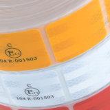 De rode Gele Witte Weerspiegelende Sticker segmenteerde Stijve Banden