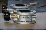 O dobro flangeou válvula de borboleta de Ss304 Ss316 Ss316L para a água (D41X-10/16)