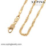 Corrente chapeada ouro da colar da onda da jóia da forma única em 2mm