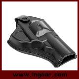 Het tactische Zwarte Leer van de Holsters van het Pistool van de Revolver van het Leer van de Kracht van het Leger