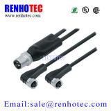 Conetor circular elétrico do Pin Sensorm8 do soquete e do plugue 2/3/4/5/6 do ângulo direito