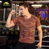 El cortocircuito superior de los deportes de las medias de la camisa de Acitive de los hombres envuelve las camisas