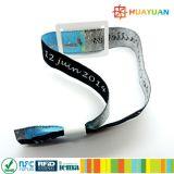 Bracelet classique de festival de Flextag NFC de tissu de l'IDENTIFICATION RF 1K de WP20 MIFARE
