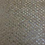 Couro sintético para sapatas, vestuário do plutônio do Glitter maravilhoso e colorido, decoração, (HS-Y35)