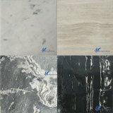 Azulejo de suelo de mármol negro amarillento gris blanco natural modificado para requisitos particulares de Brown