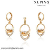 63990 Juwelen van het Ontwerp van het Hart van de manier 18k de Goud Geplateerde die met CZ worden geplaatst