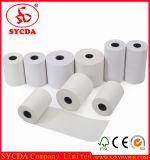 Papel termal plástico de la base barato 57*40m m para la caja registradora
