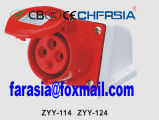 4p 16A Económica industrial de montagem em superfície soquete