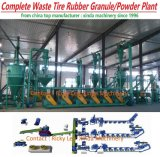 Waste Scrap Tire Recycling Borracha em pó Crumb Line Machine Plant