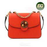 Fornecedor popular Emg4910 de China dos sacos de ombro do saco de mão da senhora Bolsa Mulher do couro genuíno do estilo