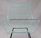 Présidence dinante moderne de fil de fauteuil en métal de portée de meubles de Kd de restaurant de reproduction