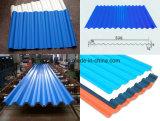 Blaue Metalldach-Umhüllung/rote gewölbte Dach-Blätter
