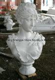 Buste européen de sculpture en buste de marbre de buste