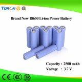 18650 3.7V 2500mAh PCM-Drähte zylinderförmige Li-Ionnachladen-Batterie