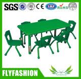 Plástico verde Mesa e cadeira para crianças bonitas (SF-08C)