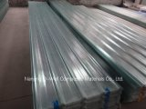 La fibre de verre ondulée de panneau de FRP/toiture transparente en verre de fibre lambrisse W171016