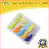 Los cuchillos del queso 5PCS fijaron la cocina colorida del diseño que cocina las herramientas