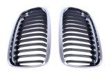 Grades pretas da parte dianteira do rim do cromo para o rei De luxe da caixa de BMW E90 E91