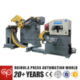 Alimentador automático de folha de bobina com alisador e descompilador ajuda em fabricantes de eletrodomésticos
