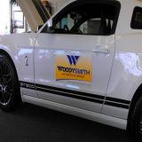 O carro magnético personalizado assina ímãs da porta de carro da etiqueta