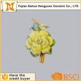 Ornamento de flor de porcelana Pequena flor artificial de cerâmica