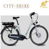 여자의 Ebike 판매를 위한 전기 36V 250W 중앙 모터 도로 자전거