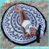 100%年の綿の高品質の円形のビーチタオル