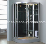 1200mm Sector Sauna de vapor gris con ducha para personas solteras (AT-D0902A)